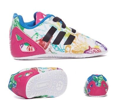 039b641114b0a Adidas Originals Infants Toddler Baby Kids ZX Flux Crib Shoes Trainers