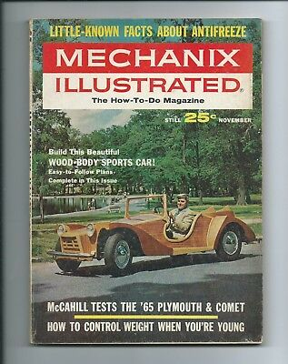 MECHANIX ILLUSTRATED magazine Nov 1964 build your own retro WOOD-BODY SPORTS CAR
