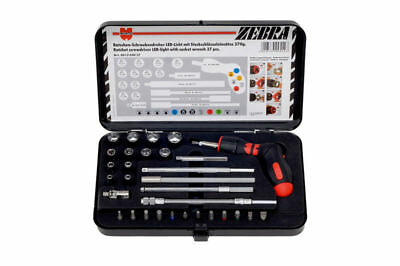 Wurth Zebra 37 Piece Ratcheting Pistol Grip Screwdriver with Bits & Sockets