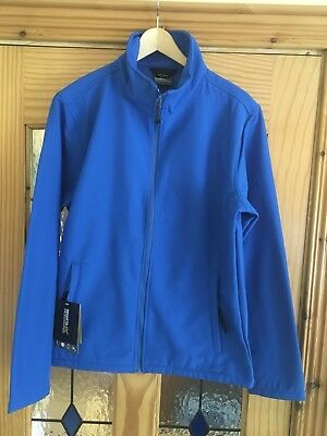 Regatta Print Perfect Softshell Jacket Mens Size Medium Oxford Blue RRP £60