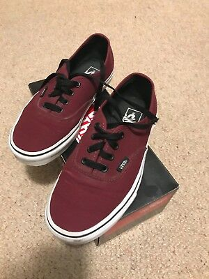 Vans Burgundy shoes size 6