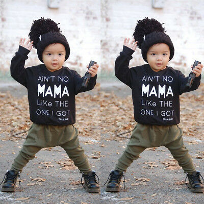 Newborn Baby Boys Clothing Sets Kids Toddler Clothes Outfits T shirt Pants Suits