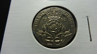 UK Great Britain  1993  20 Pence  coin