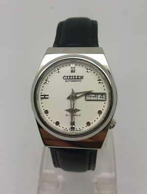 VINTAGE CITIZEN Automatic Day/Date WATCH, Japan made, used. (w-152)