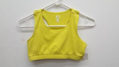 Dance Sports Bra Top Large Child Yellow GTM Ballet Tap Jazz Hip Hop Gymnastics