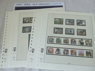 Lindner Great Britain Illustrated Stamp Album Leaves Various Year Supplements