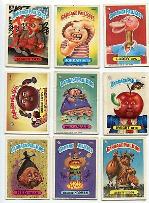 LOT of 20 1986 ORIGINAL GARBAGE PAIL KIDS 32nd - 5th SERIES Roy Bot Joe Blow