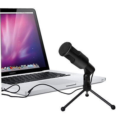 Portable Studio Speech Wired USB Microphone With Holder Stand SF-960B For PC D0