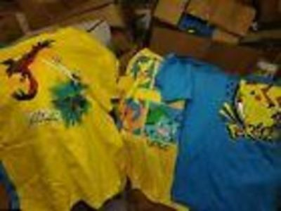 Wholesale lots childrens licensed Pokemon t-shirts 24 shirts, free shipping Game