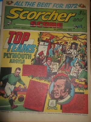 01/01/1972 Scorcher And Score Comic Plymouth Argyle Top Teams On Cover