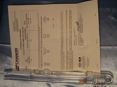 Cannon Ubbelohde Viscometer, Size 400, 240 to 1,200 - NEW