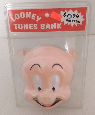 1997 Porky Pig Head Bank, Warner Brothers - New in Package