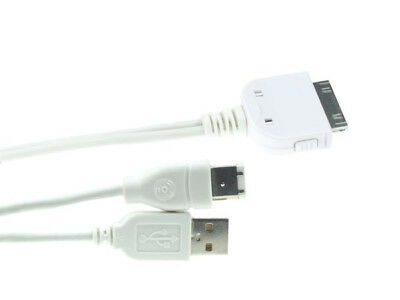 VELLEMAN PCMP12 Y-CABLE-DOCK CONNECTOR TO USB 2.0 + FIREWIRE FOR iPOD, shuffle