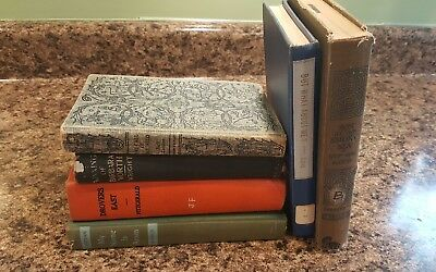Lot of 6 ANTIQUE Old Vintage Books Collection Set MIXED all hardcover