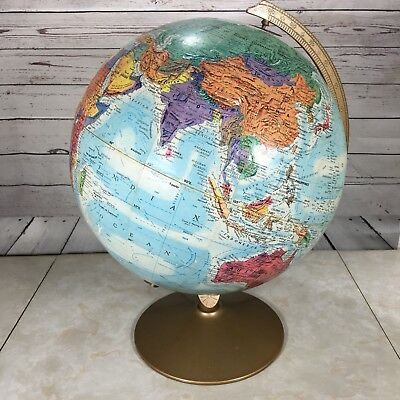 "Vintage Globe Replogle World Nation Series 12"" Classic Raised Relief Topography"