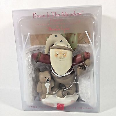 Peace In The Meadow Figurine Russ Holiday Santa Clause Squirrel Christmas Tree