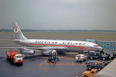 """American Airlines Boeing 720-023B N7549A at BAL in July 1967 8""""x12"""" Color Print"""