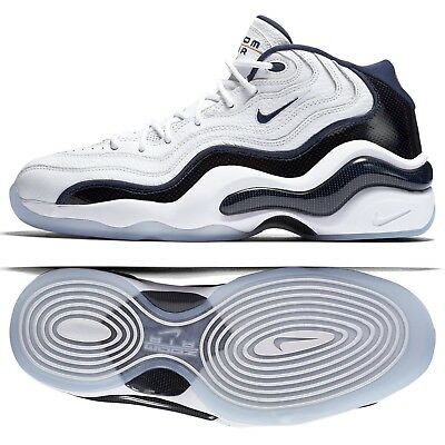 c877b746b106c Nike Air Zoom Flight 96 Olympic 884491-103 White Navy Men s Basketball Shoes