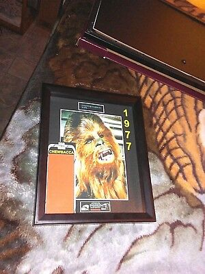 """STAR WARS Chewbacca 8""""x10"""" Shadow Box for any 3.75"""" Chewbacca Action Figure"""