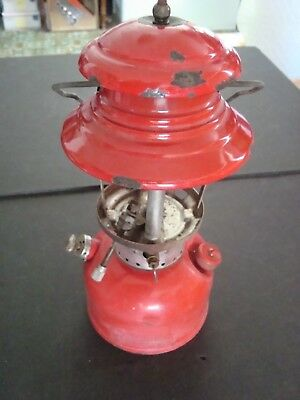 Vintage May 1960 Coleman Model 200 A Red Lantern Single Mantle No Globe