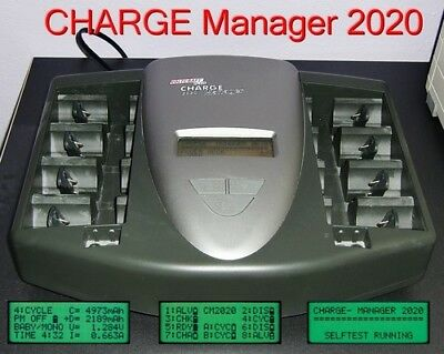 VOLTCRAFT Akku-Ladestation Charge Manager 2020 PLUS 10 NiMh-Akkus *LESEN*