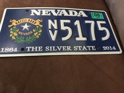 """NEVADA """" BATTLE BORN - 150 YEARS SILVER STATE """"  NV Specialty License Plate 5175"""