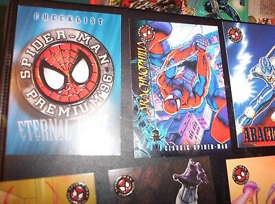 1996 Fleer Spider-Man PREMIUM COMPLETE 100 Card Set! VENOM CARNAGE! EMBOSSED!