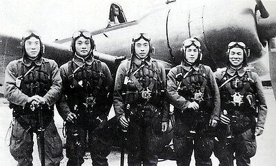 B&W WWII Photo Japanese Kamikaze Pilots Last Pic WW2 World War Two Japan