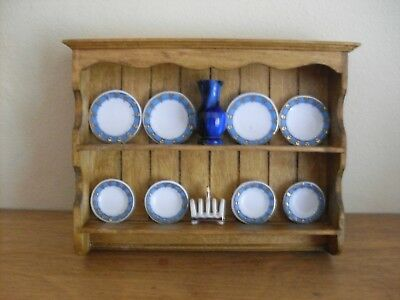 Dollshouse miniature ~ VICTORIAN PINE ~ Kitchen Wall Dresser