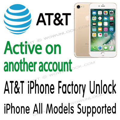AT&T iPhone X Xr Xs 8 7 7+ 6s+ 6+ 6s 6 ACTIVE ON ANOTHER ACCOUNT UNLOCK SERVICE