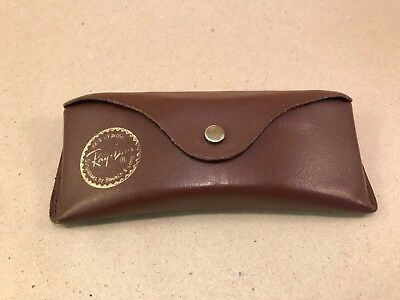 Vintage Ray Ban Leathers Case Etui Cowhide Bausch Lomb B&L USA 🇺🇸