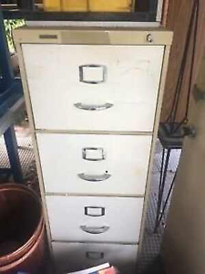 4 Drawer Filing Cabinet ~ Vintage ~ One Owner ~ Good Used Condition
