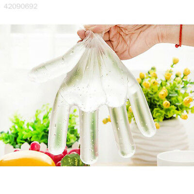 E1F4 100 Disposable PE Gloves Plastic Food Safe Glove Catering DECORATING CAR