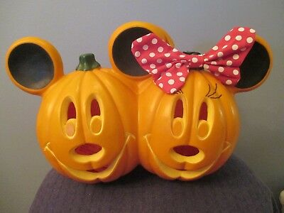Disney Minnie & Mickey Mouse Halloween/Fall Lighted Pumpkins
