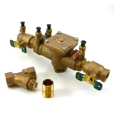 """Watts 1"""" LF009M2-QT-S BACKFLOW PREVENTOR WITH STRAINER"""