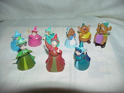 LOT Disney Fairy Godmothers Mice PVC Figures Figurines Cake Toppers