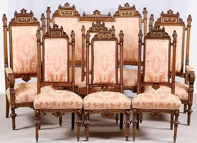 Attributed Herter American Victorian 7 Piece Aesthetic Movement Parlor Suite
