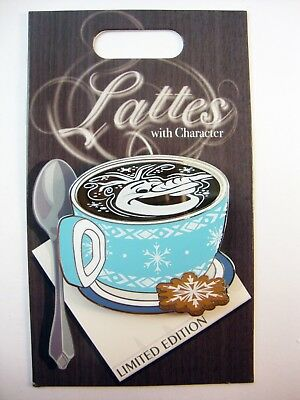DISNEY Pin of the Month LATTES with CHARACTER OLAF Frozen LE Pin