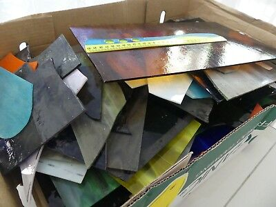 20 KG Stained Glass (mostly opalescent) varied sizes.