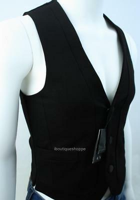 Armani Exchange A X Mens Tuxedo Lined Sleeveless Button Front Vest NWT $110