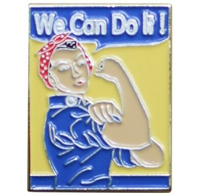 We Can Do It Pin - Rosie the Riveter American Icon, Metal, Rubber Backing