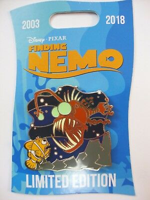 DISNEY Pin 2018 FINDING NEMO 15th Anniversary MARLIN and ANGLERFISH