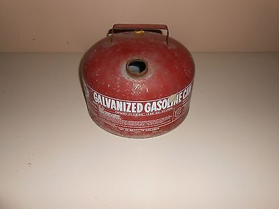 Vintage Made In USA Eagle Gas Can 2&1/2 Gallon Galvanized Steel