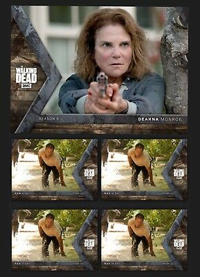 DEANNA MONROE+4x RICK INTO THE HUNT-HUNTER/HUNTED-TOPPS WALKING DEAD TRADER