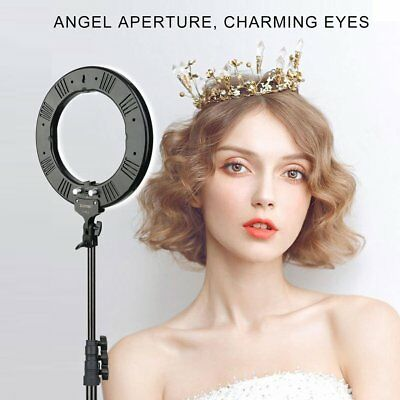 14inch LED Ring Light Dimmable 5500K Continuous Lamp for Photography Camera MA