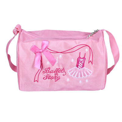 Ballet Duffle Bags Gym Shoulder Bag Dance Training Tote Bowknot Dress Embroidery