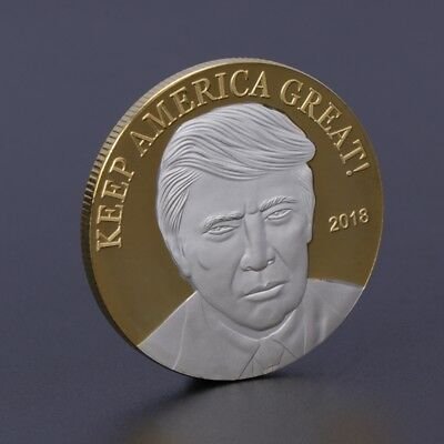USA American President Trump Commemorative Coin Collection Gifts Souvenir Golden