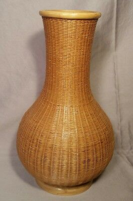Wicker Vase Container Wood Bamboo Shanghai Handicraft People' Republic Of China