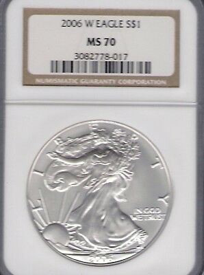 2006(W) Inaugural Issue Burnished  ASE NGC Perfect MS70 Society#3082778-017 OMP