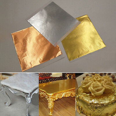 AU 100-300 Sheets Gold Silver Copper Decorative Foil Paper Gilding Art Craft -A